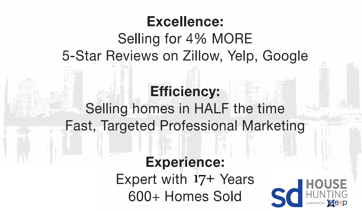 San Diego House Hunting: Excellence, Efficiency, Experience